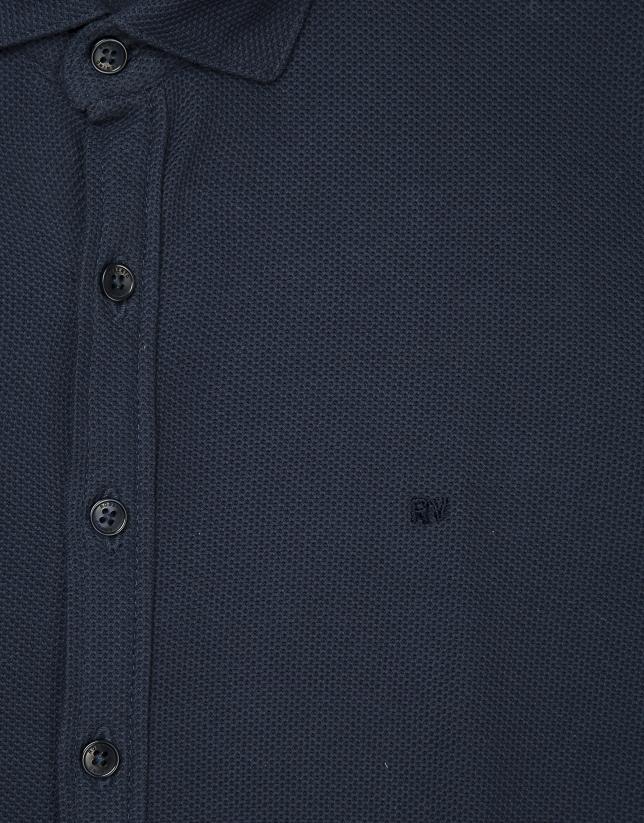 Polo chemisier bleu marine