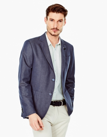 Tailored jean sports coat