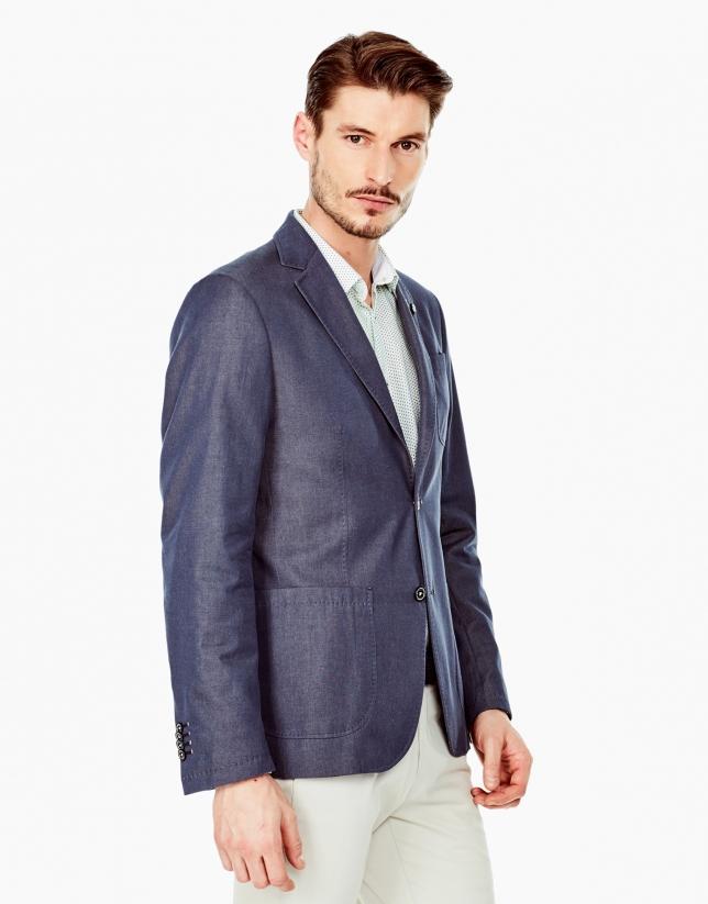 Tailored jean sports coat