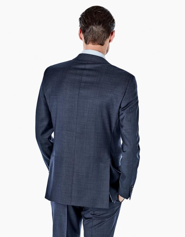 Costume coupe ajustée faux uni bleu roi
