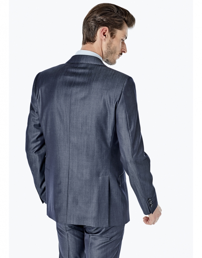 Costume coupe droite effet jean bleu marine