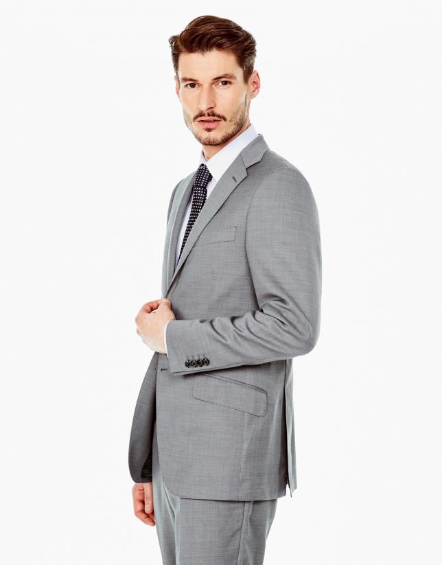 Costume coupe droite structuré gris