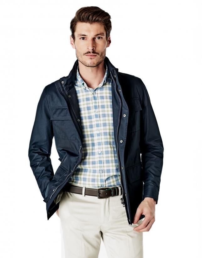 Parka 4 poches bleu marine
