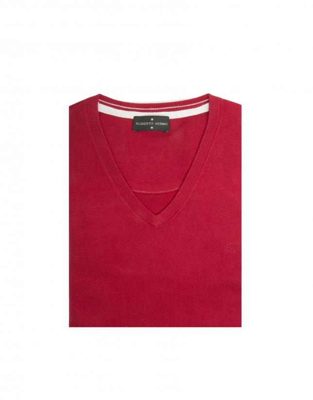 Jersey pico algodón rojo