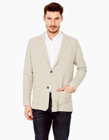 Beige tailored jacket
