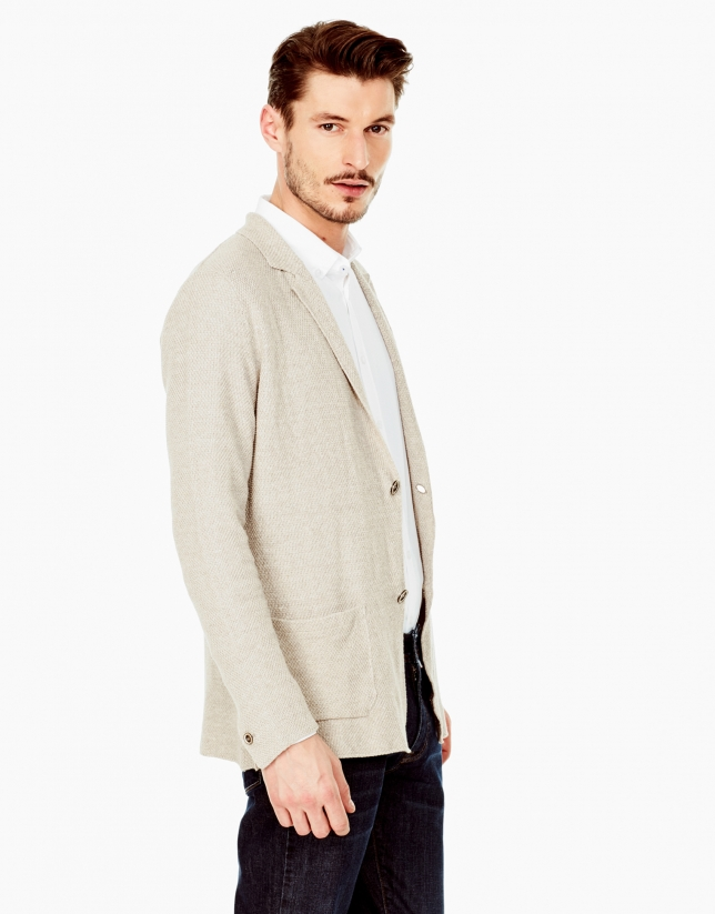 Beige tailored jacket