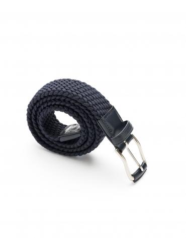 Cinturón trenzado azul