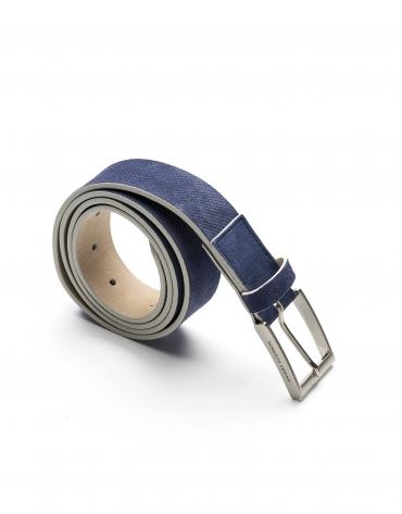 Navy blue embossed belt