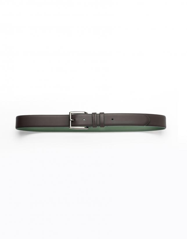 Cinturón marrón liso