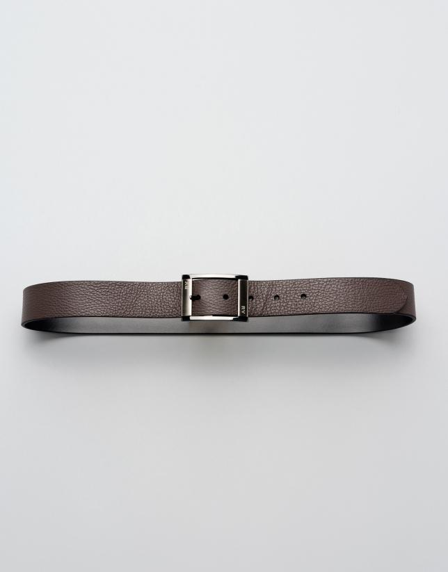 Cinturón reversible negro/marrón