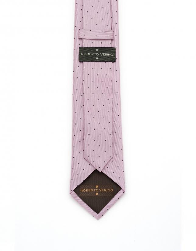 Corbata lunares rosa/azul