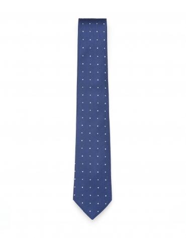 Corbata lunares azul/blanco