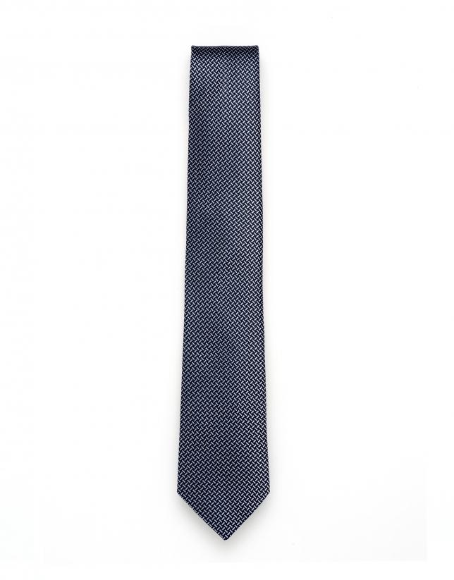 Cravate à jacquard géométrique