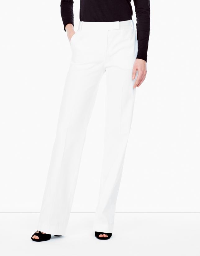 Pantalon de tailleur blanc