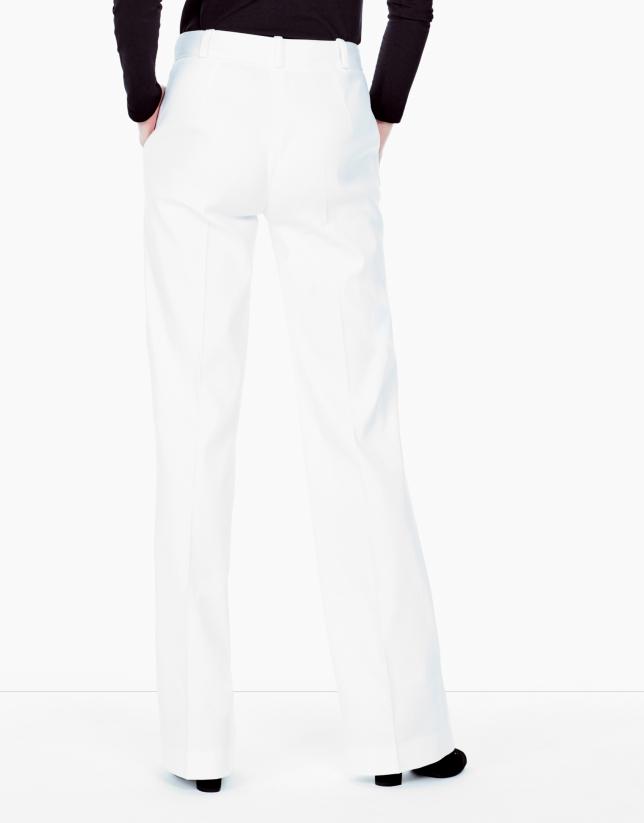 Pantalón traje blanco