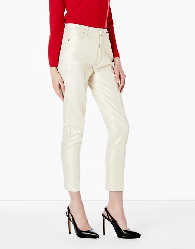 Pantalon 5 poches doré