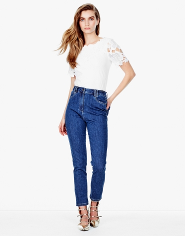 Pantalon fuseau en denim