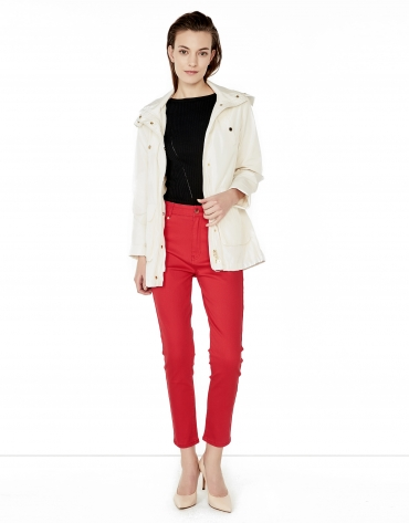 Coral pants with 5 pockets