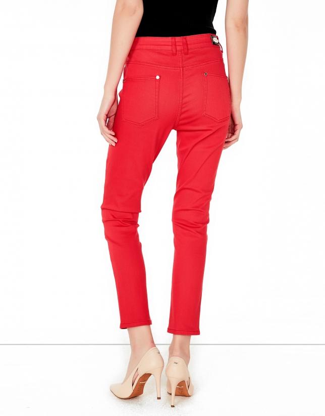 Pantalón 5 bolsillos coral