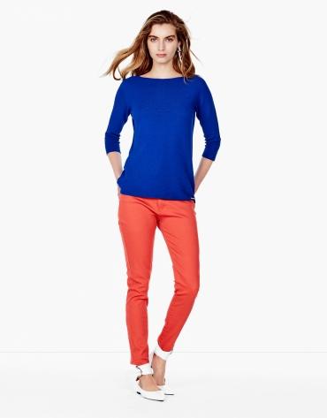 Pantalon 5 poches couleur orange