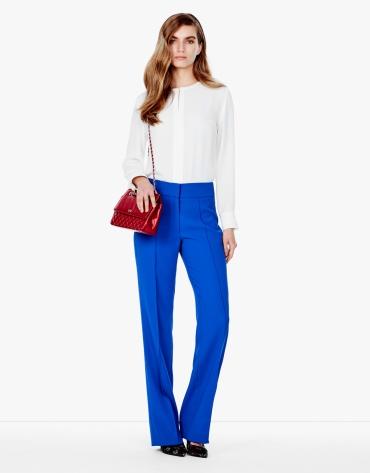 Pantalon en crêpe bleu