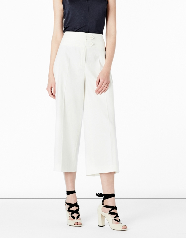 Jupe-culotte blanche - Pantalons - Collection   Roberto Verino 2c942037742f