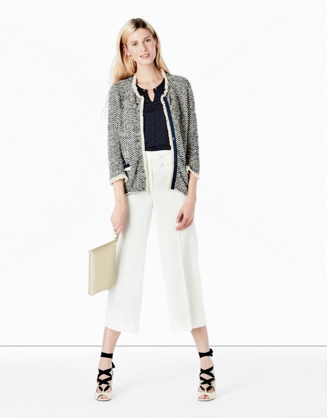 Jupe-culotte blanche