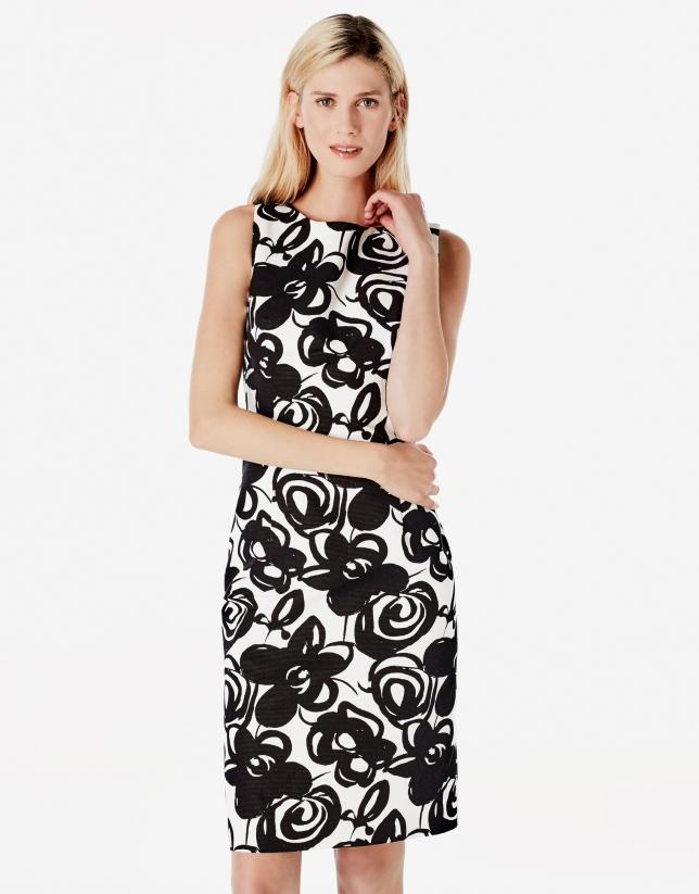 Black print dress