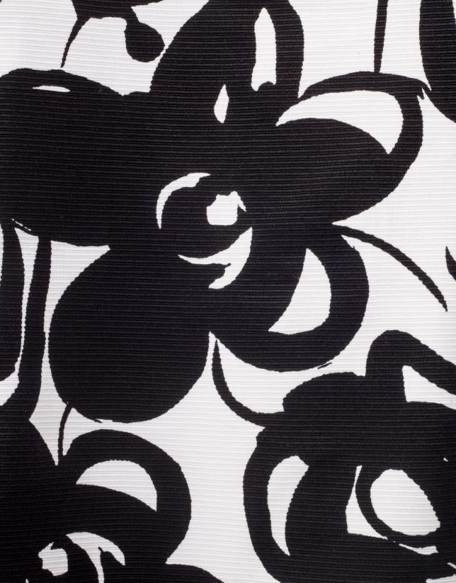 Robe noire imprimée fantaisie
