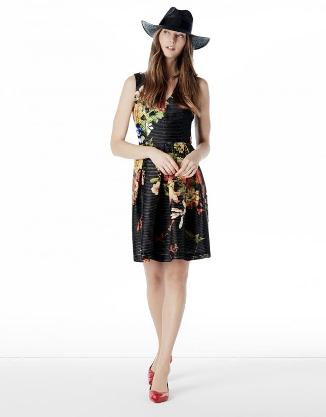 Vestido vuelo estampado floral