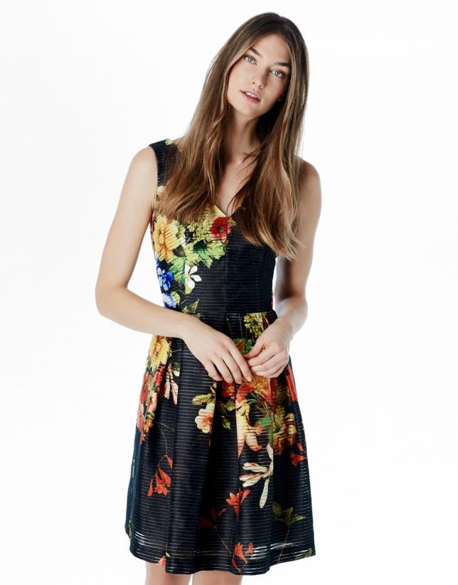 Floral print flowing dress