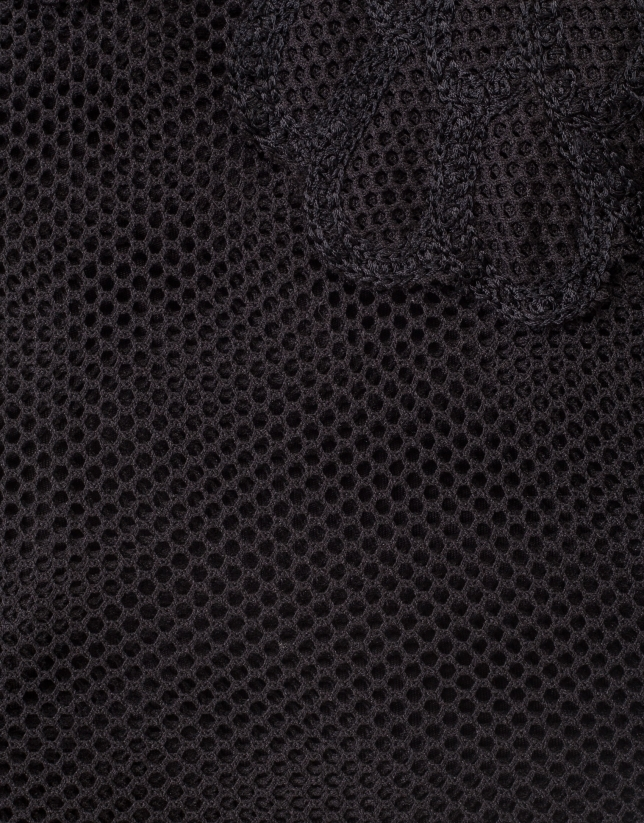 Robe longue brodée noire