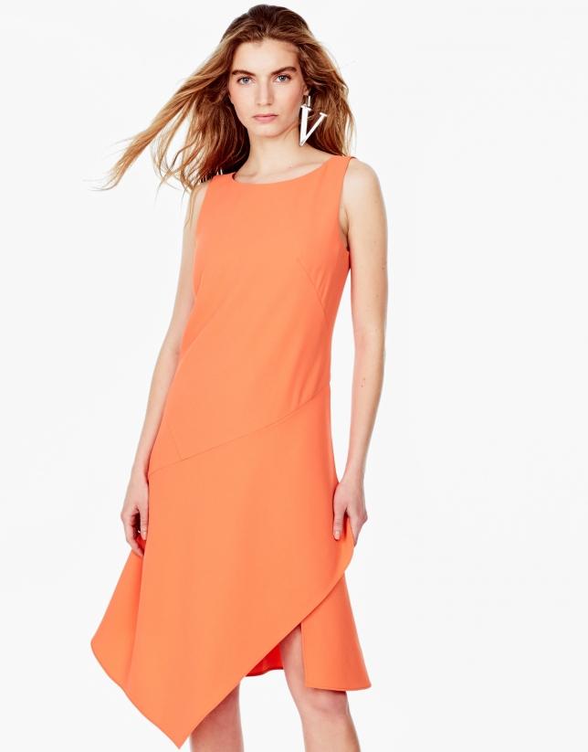 Orange asymmetric dress
