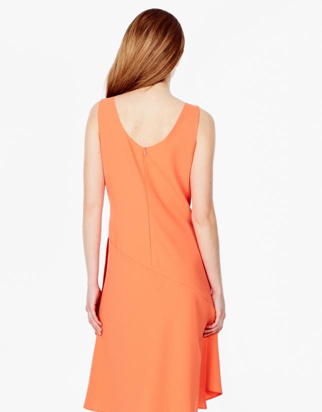 Vestido asimétrico naranja
