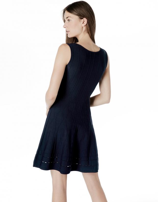 Vestido punto azul