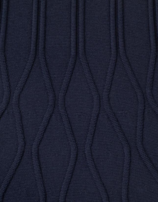Robe bleue en maille