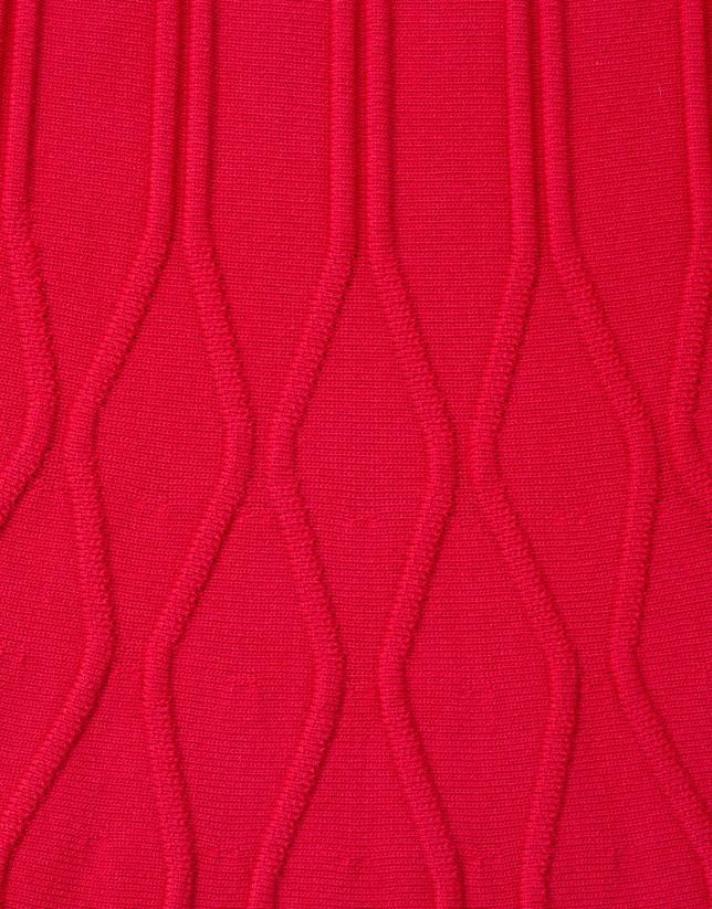 Robe rouge en maille