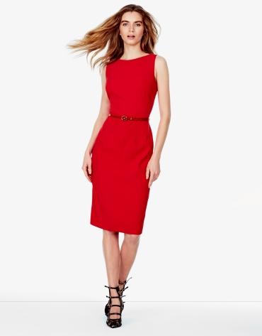 Red backstitched dress