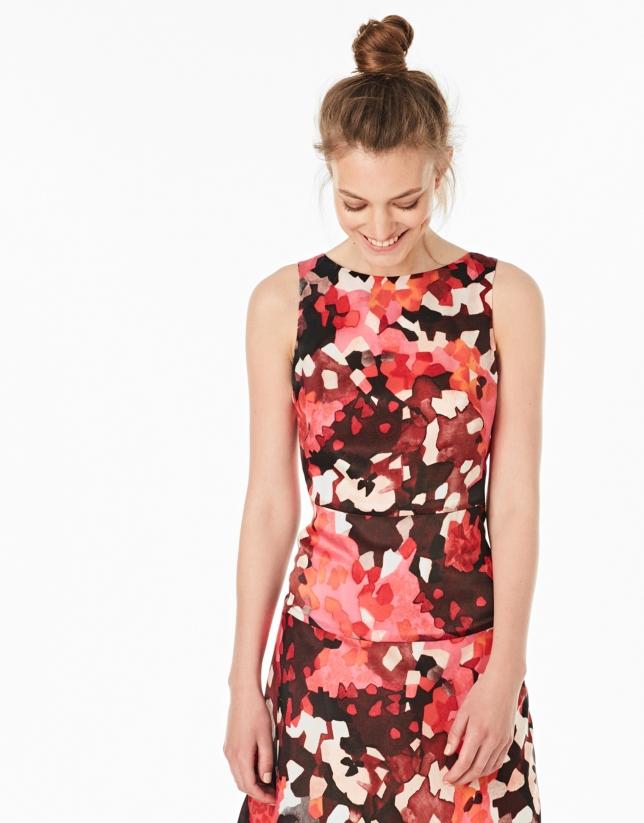 Print flare dress