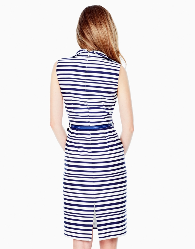 Striped shirtwaist dress