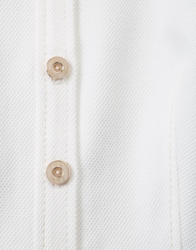 Robe chemisier blanche cintrée