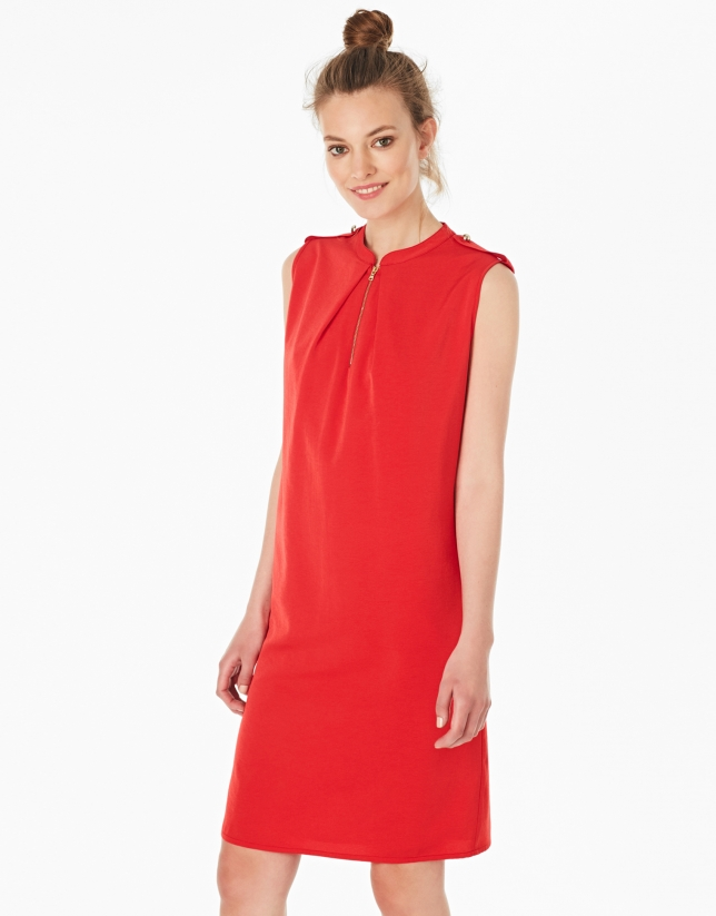 Red dress with belt loops