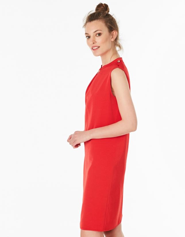 Vestido trabillas rojo