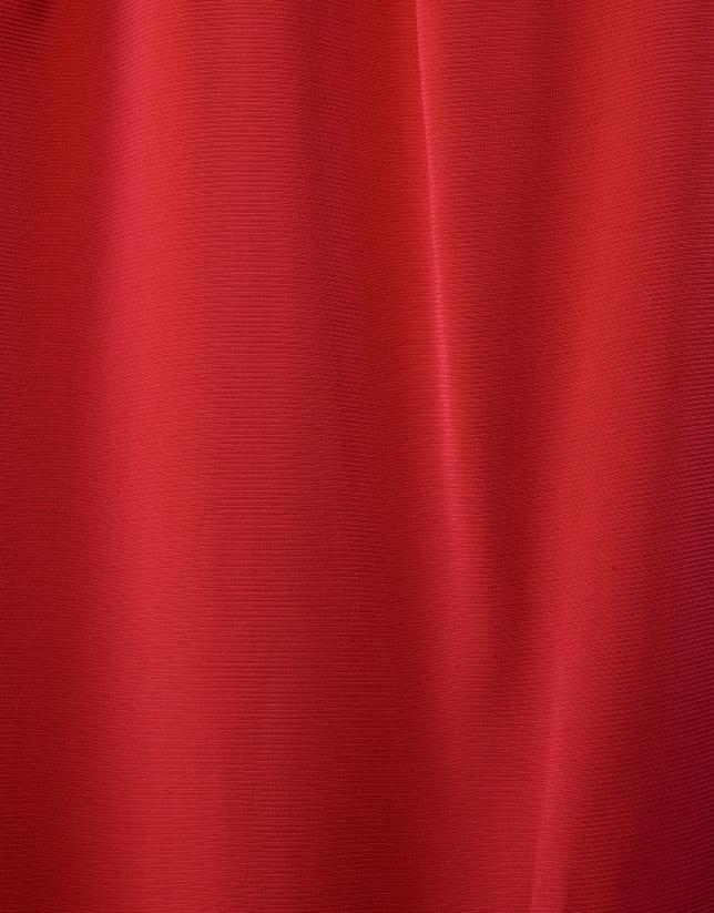Robe à passants rouge
