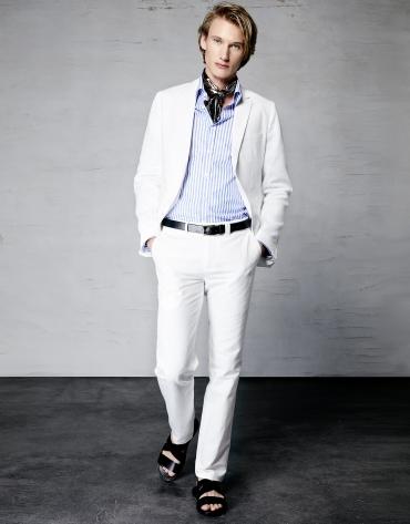 Traje lino blanco