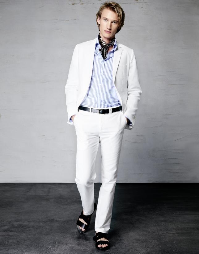 9462cf159 Traje lino blanco - Trajes - Hombre