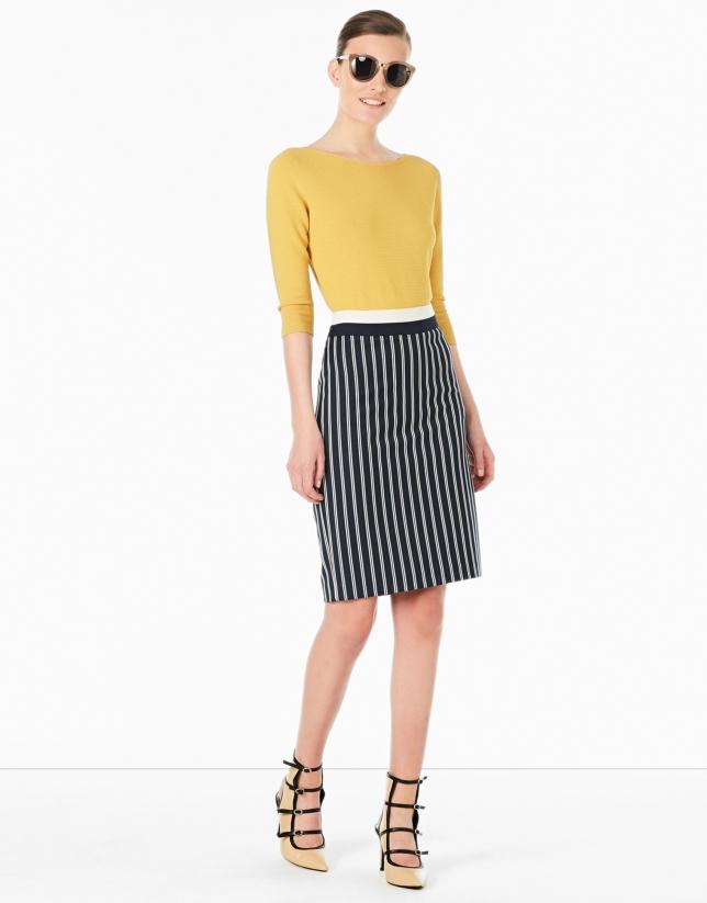 Falda recta rayas