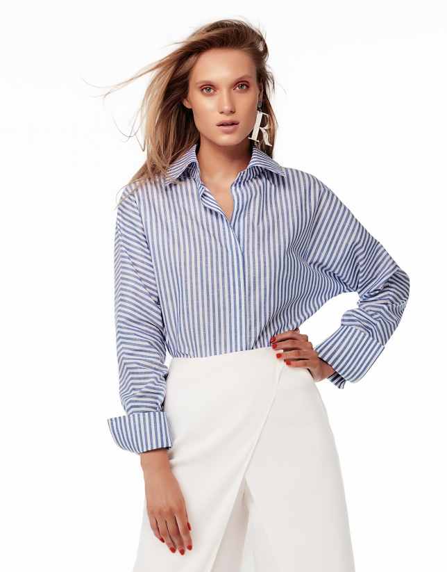 Blue/white striped shirt