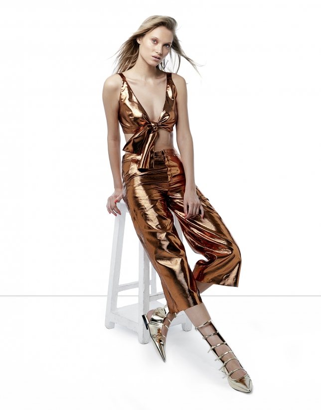 Copper metalized top