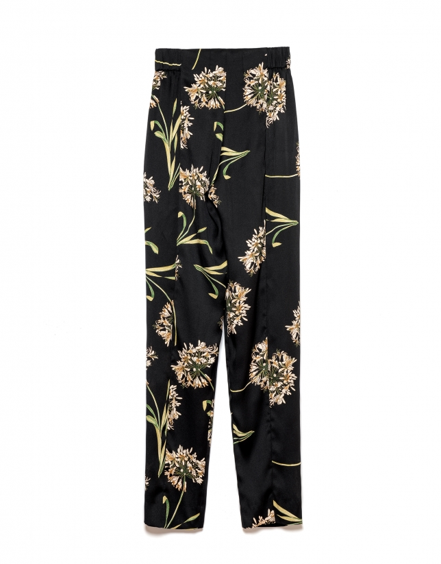 Pantalón fluido estampado floral